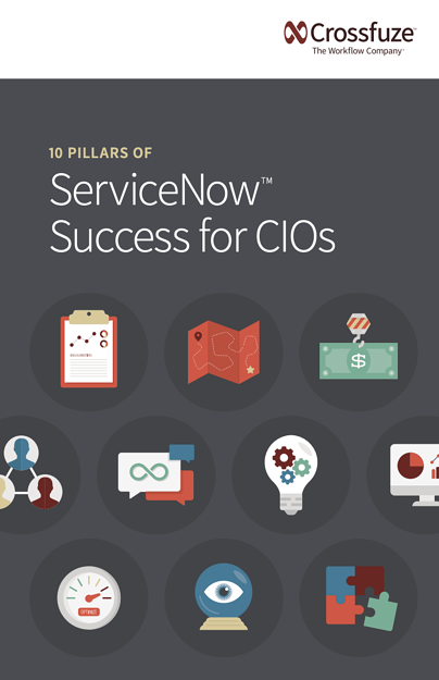 10 Pillars of ServiceNow Success for CIOs Book Cover - Crossfuze